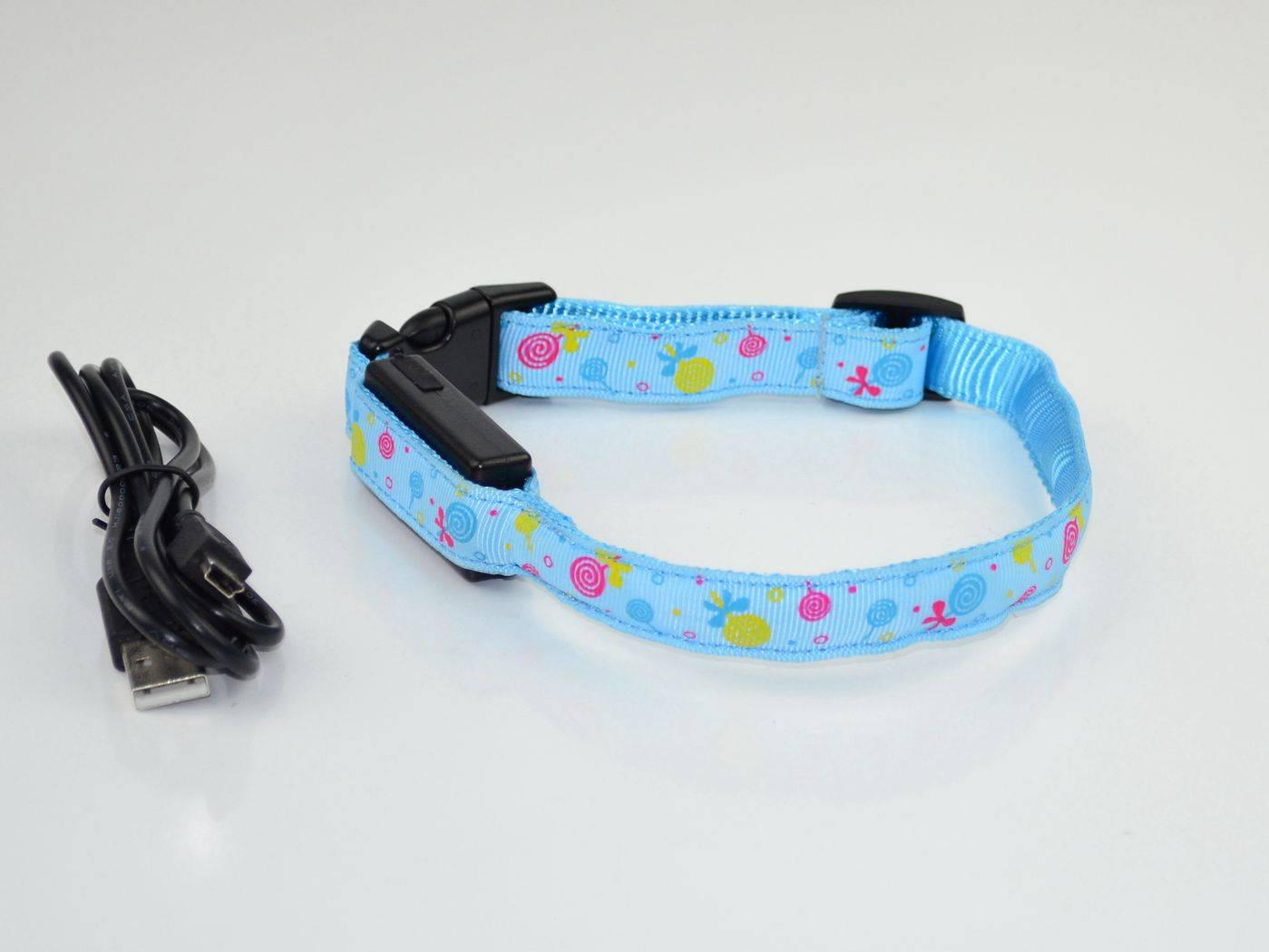 USB LED Flashing Pet collar