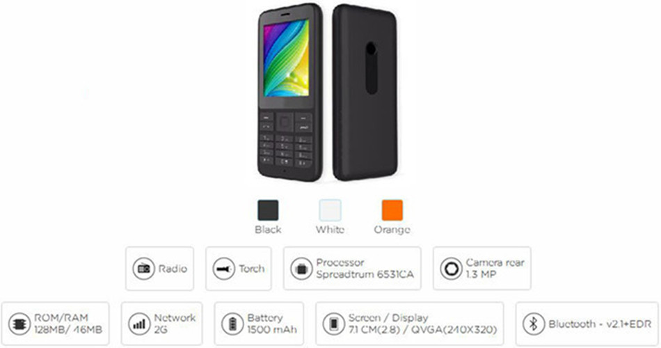 Supply 2.8 inch QVGA quad band basic feature phone With big memory & battery