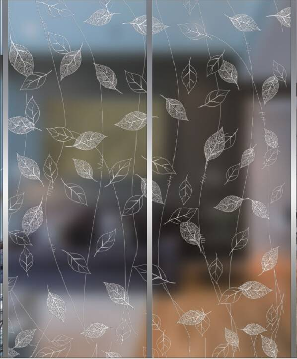 acid etch decorative art glass