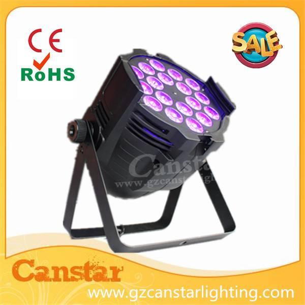 Dmx rgbaw uv 18x18w par led light for disco bar night club wedding etc