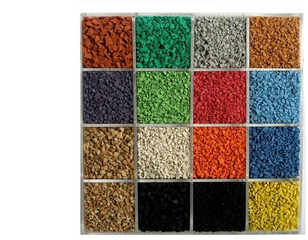 1-4MM Colored EPDM Rubber granules (Plastic track Use)