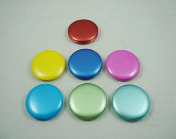 Colorful round plastic mirror with double side