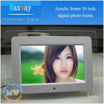 Acrylic frame 10 digital picture frame
