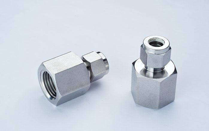 SS316 female connector,1/2OD x 1/2FNPT,16Mpa