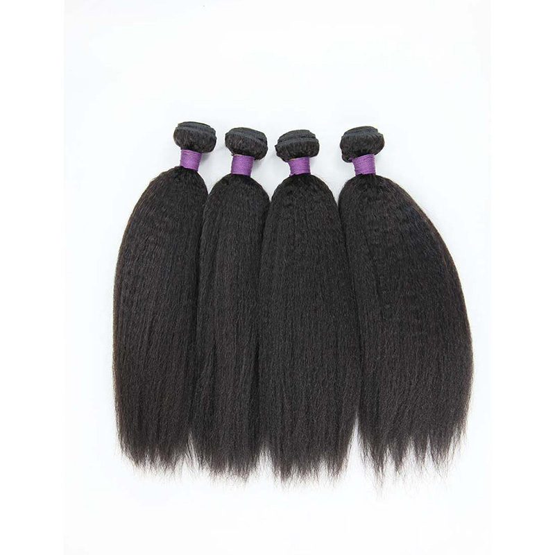 8A Malaysian Kinky Curly Human Virgin Hair Weave 4 Bundles With Lace Closure