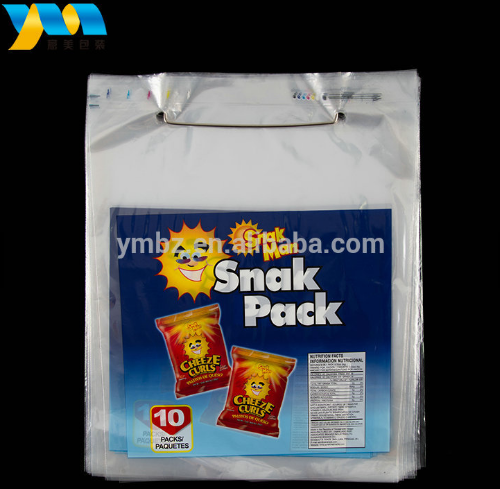 Custom printed high quality clear two side reusable plastic wicket food storage bag