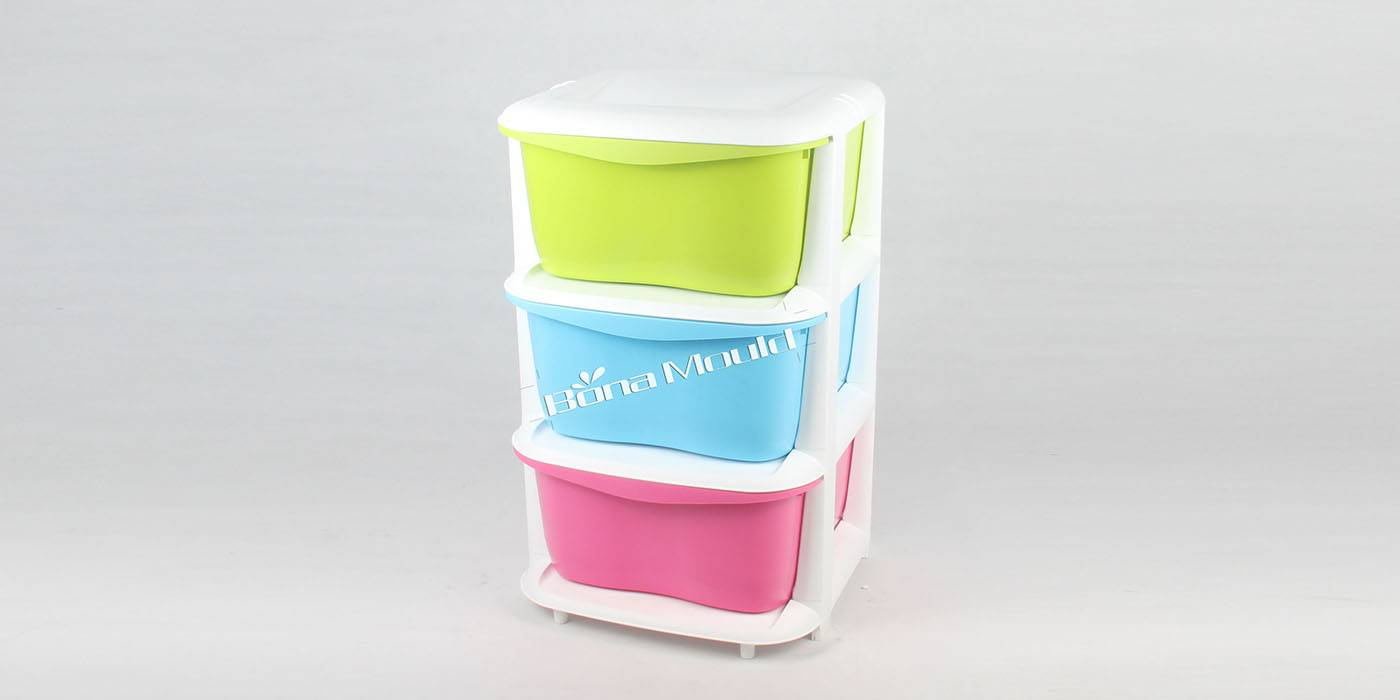 Plastic houseware drawer mould