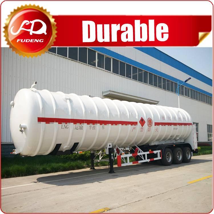 LNG Transport Truck Tank semi trailer ,Nitrogen Gas Tank Trailer for sale