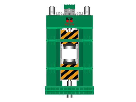 PLC fully hydraulic counterblow hammer