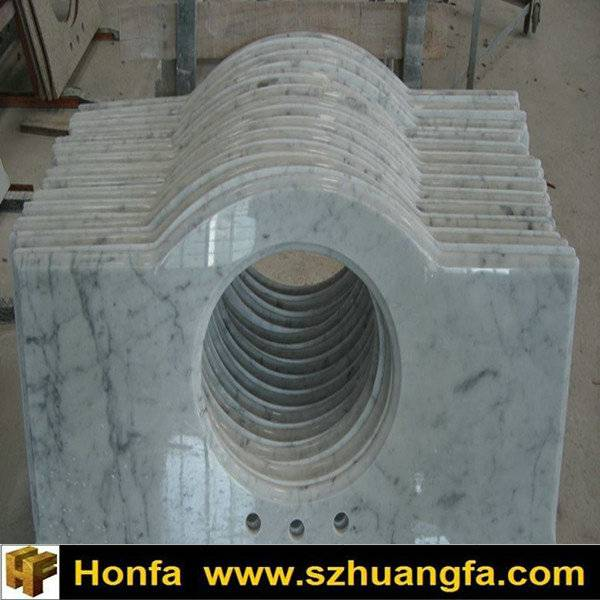 Factory Price White Marble Vanity Top