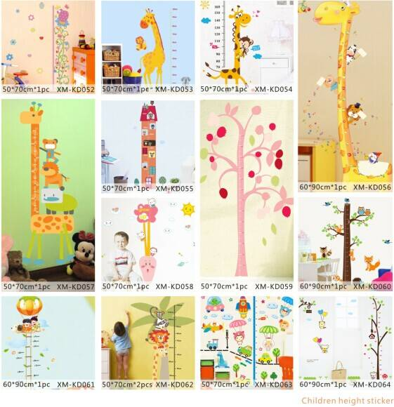 Giraffe Height Growth Printed Home Decorative Kids Wall Sticker