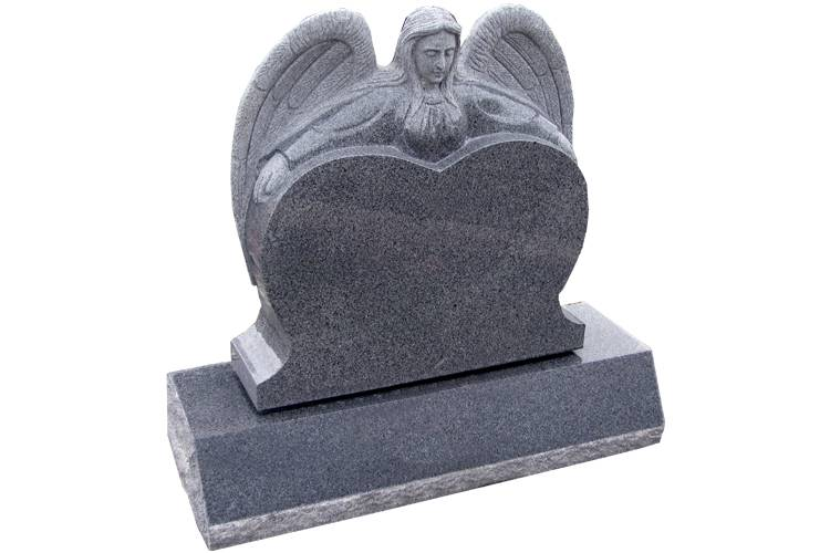 Germany stone granite heart shape tombstone