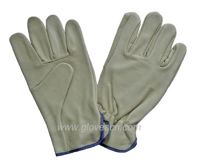 Sell cow grain leaather driver gloves