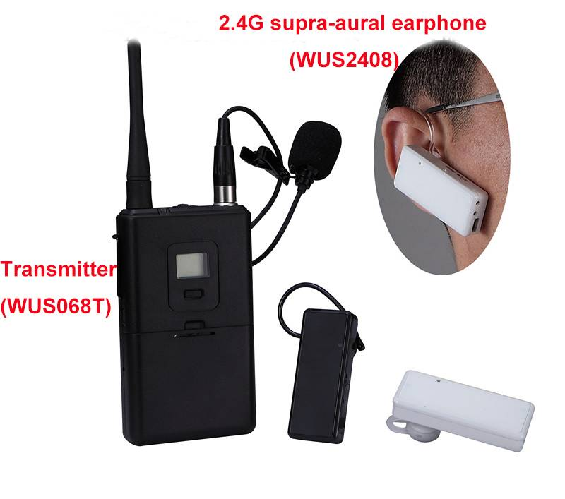 Tour guide receiver supra-aural earphone WUS2408