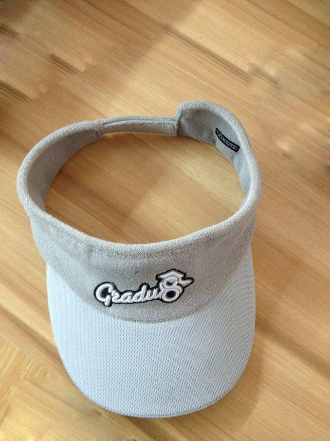 white good looking cotton embroidery visors