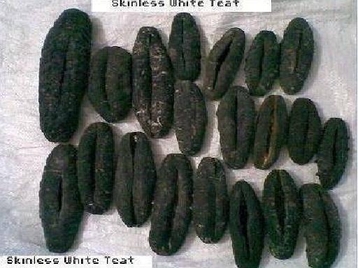 Skinless white teat