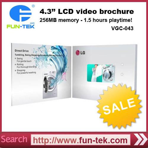 4.3 inch Video Greeting Card for Company Marketing Promotion