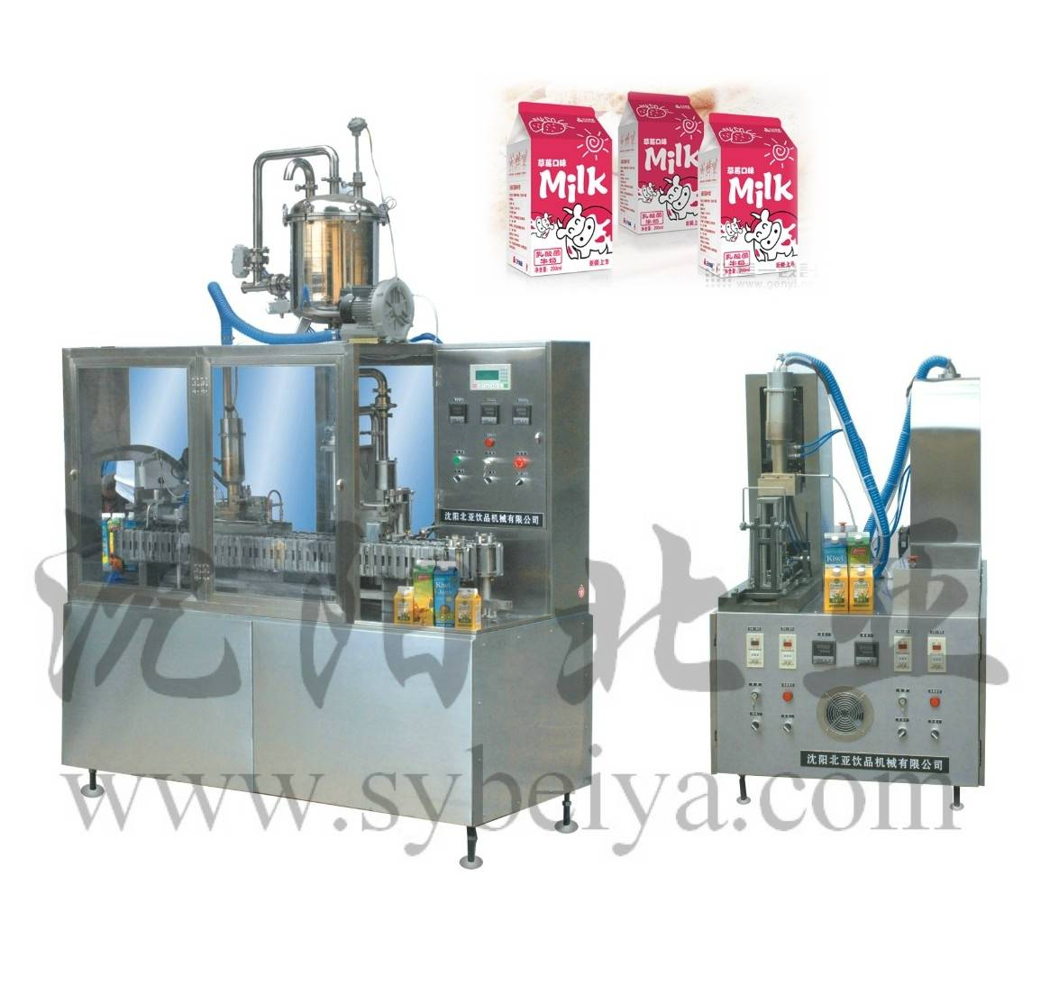 Milk Gable-Top Filling and Packaging Machine (BW-1000-2)