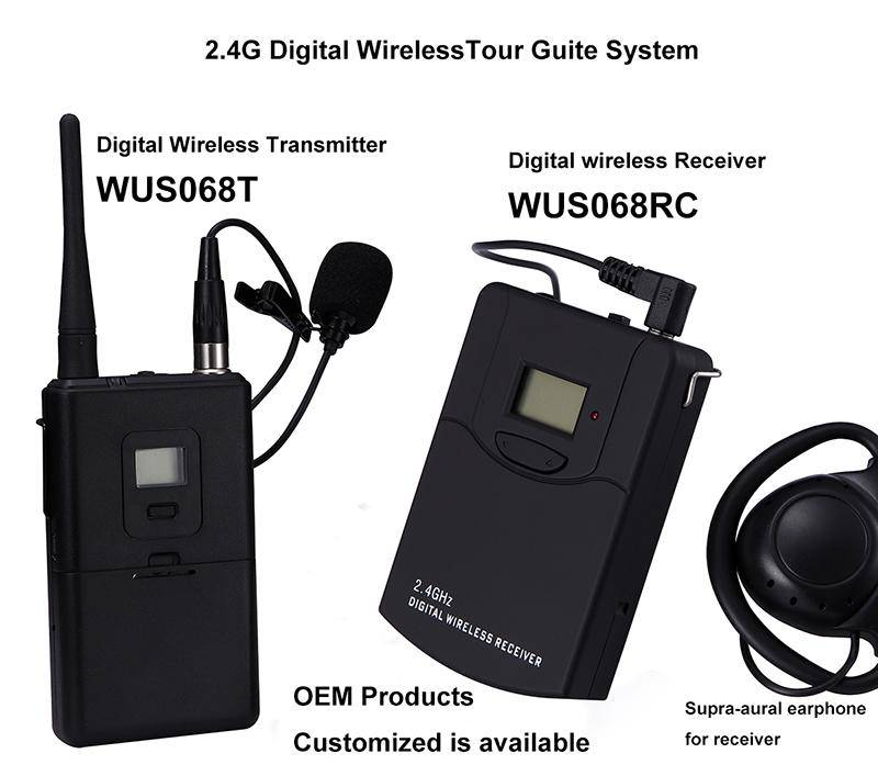 Professional manufacture of 2.4G digital wirelss guide audio transmission
