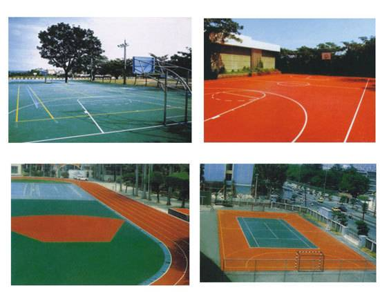 floor paint for tennis and basketball etc