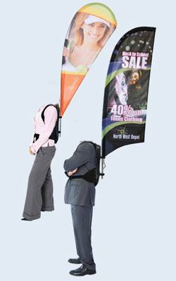 walking bill board,Backpack Advertising Flag,walking banner