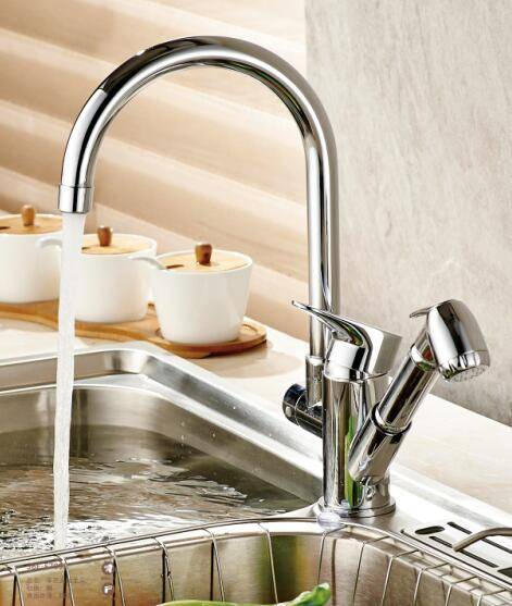 BWI new kitchen faucet with spray shower head