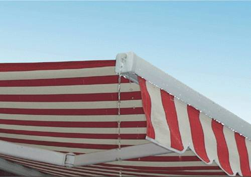 Retractable awning with water channel  L98