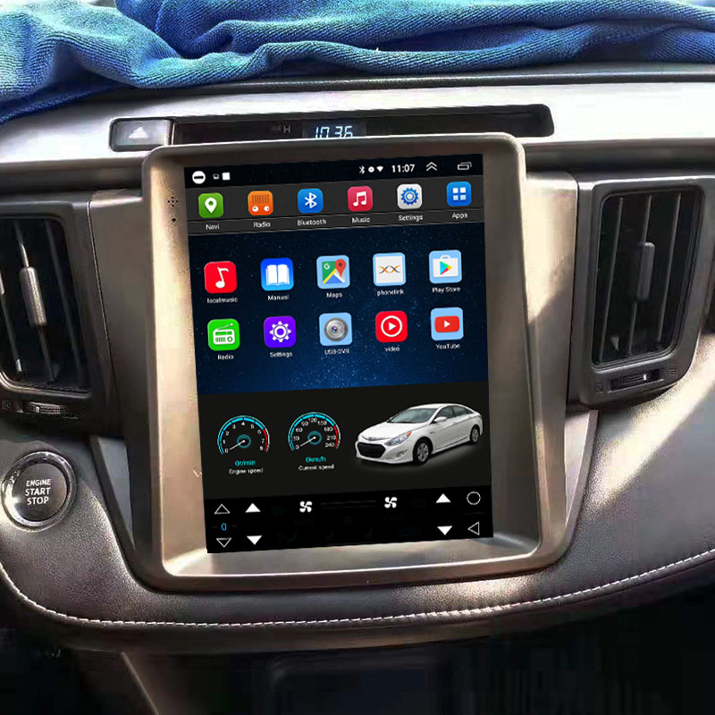 Tesla Style 10.4 Inch Android Car Multimedia Navigation For Toyota RAV4 2014-2018