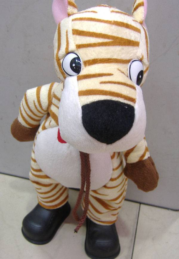 electrical shaking head tiger toys