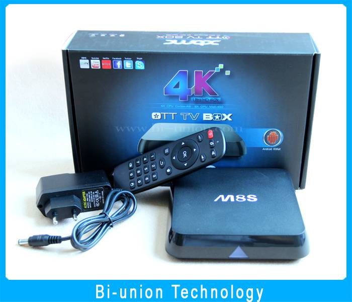 Factory Price 2016 best selling s812 2g 8g with full preinstall kodi 16.0 android 4.4 M8S TV BOX