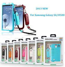 2013 NEW galaxy S4 (i9500) mobile phone leather case in high quality fashio