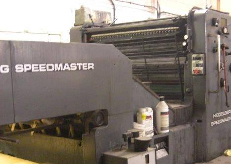 used Heidelberg SM 102V , SM 74 , SM 72V sheet fed offset printing machine