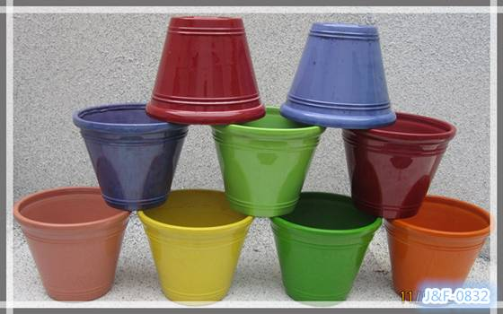 Sell cheap shining color plastic planter pots