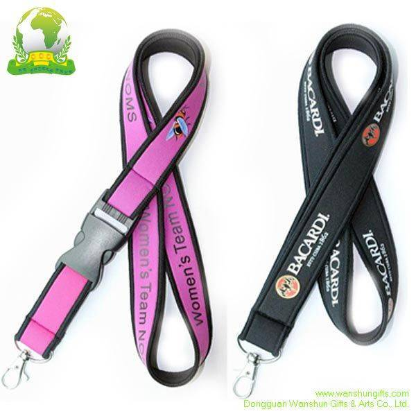 Neoprene Lanyard with Screen Printing Logo
