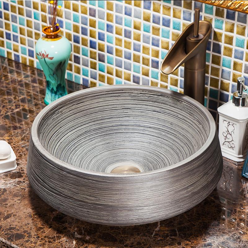 Modern Artistic Luxury High-end Classical Above Countertop Washstand Bathroom Vanity Wash Basin Sink