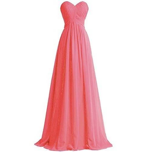 TROPICAL A-LINE CHIFFON SWEETHEART STRAPLESS KNOT RUCHED BODICE FLOOR LENGTH BRIDESMAID DRESS TB3002