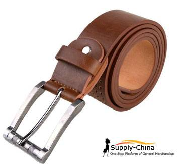 Ms pin buckle leather belt