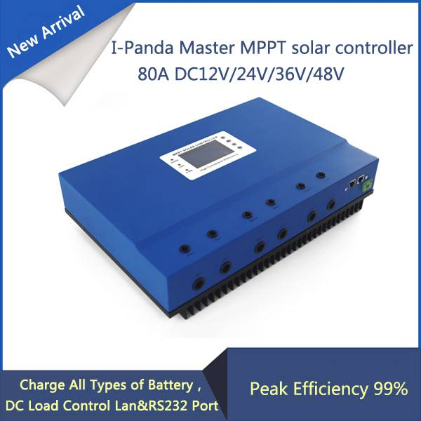 80A 48V PV regulator, 48V 80A Master MPPT solar charge controller with RS232 Lan, DC load Ctrl, 80A