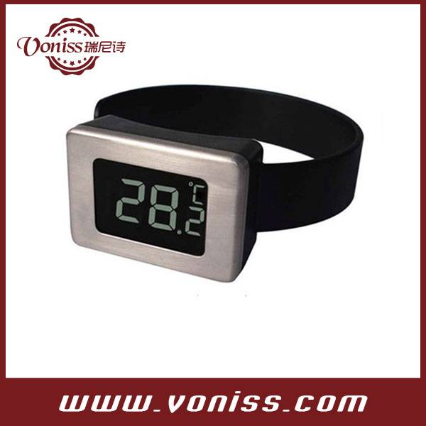 Digital Mini LCD 3-digits Watch Wine Thermometer Watch Style Celsius Thermometer Cider