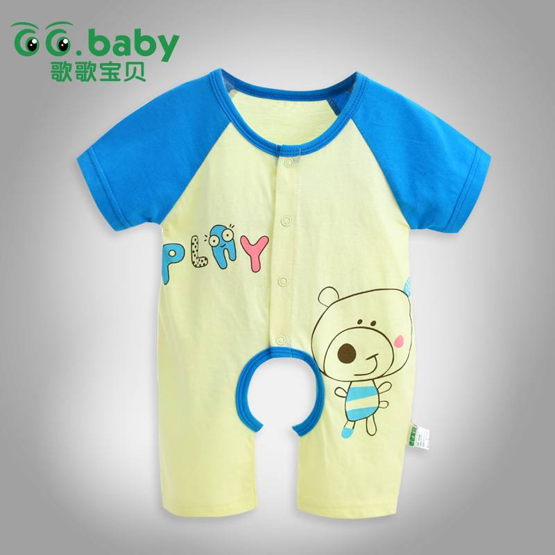 Summer Cartoon Baby Romper For Babies Unisex Infant Baby Boy Romper Short Sleeve Cotton