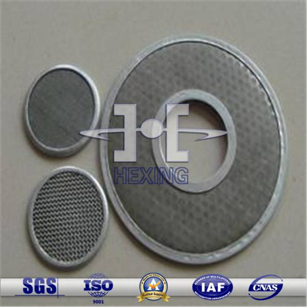 200mm Diameter Stainless Steel Wire Mesh Filter Disc
