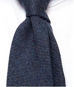 mg scabal wool tie navy