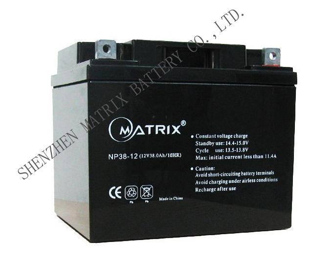 12V38Ah Sealed rechargeable lead-acid battery