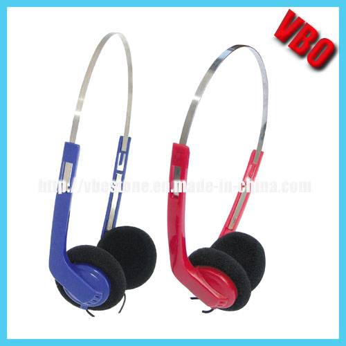 Airline Headset with Metal Band