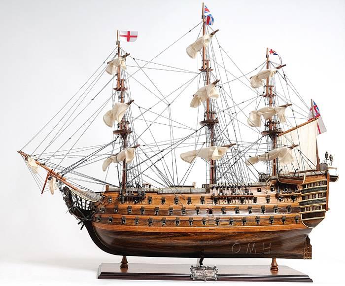 Wooden model historic ship
