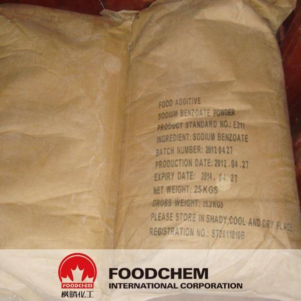 Powder,Columnar, Spherical Sodium benzoate E211/BP2011