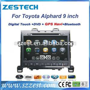 ZESTECH wholesale high quality touch screen gps oem Car audio for Toyota Alphard car radio