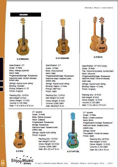 mandolin, banjos, guitarleles, Ukuleles & some other music instrument,