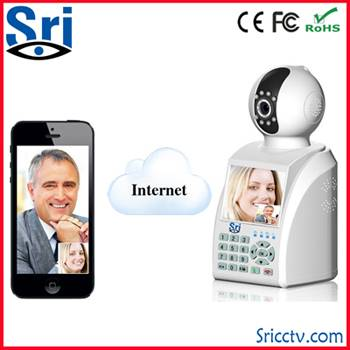 Free video call infrared ir cut 10m CMOS H.264 0.3 megapixel Network phone ip camera