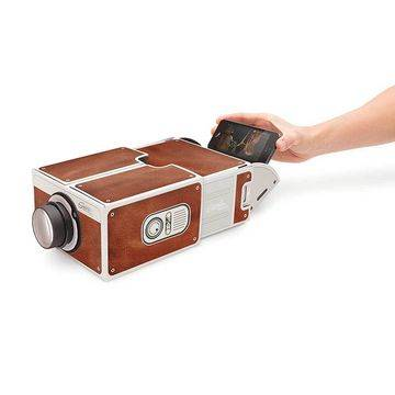 Cardboard Smartphone DIY Mobile Phone Projector 2.0, Portable Cinema
